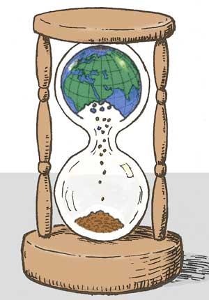 hourglass-earth