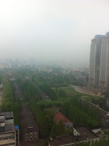 A 'good day' for Shanghai's air pollution.