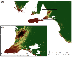 Predicted habitat suitability of koalas across South Australia