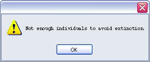 Not enough individuals