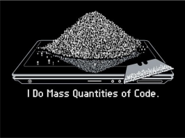 mass quantitities of code