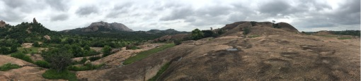 Panorama of a forested landscape (Savandurga monolith in the background) just south of Bangalore, Karnataka (photo: CJA Bradshaw)
