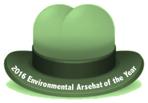 2016-environmental-arsehat-of-the-year